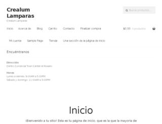 crealum.com.mx screenshot