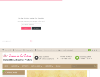 creamdelacreme.com screenshot