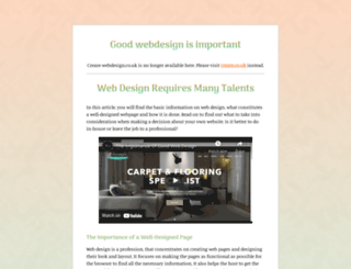 creare-webdesign.co.uk screenshot