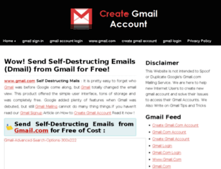 create-gmail.com screenshot