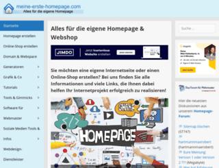 create-your-first-homepage.com screenshot