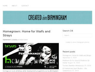 createdinbirmingham.com screenshot
