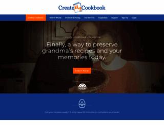 createmycookbook.com screenshot
