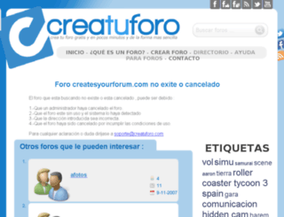 createsyourforum.com screenshot