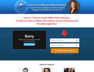 createyourbusinessbreakthrough.com screenshot