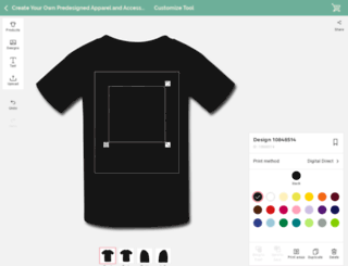 createyourown.spreadshirt.com screenshot