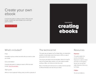 creating-ebooks.com screenshot