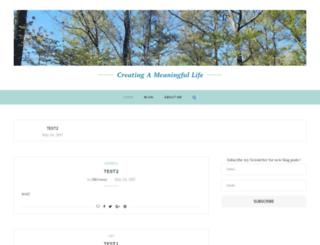 creatingameaningfullife.com screenshot