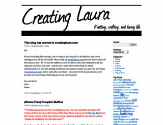 creatinglaura.wordpress.com screenshot