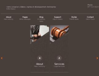 creation-entreprise-bordeaux.com screenshot