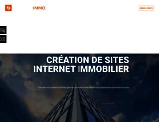 creation-site-immobilier.net screenshot