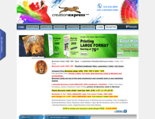 creationexpress.com screenshot