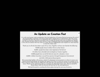 creationfest.com screenshot
