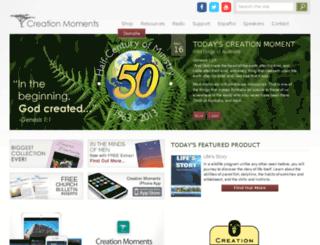 creationmoments.net screenshot