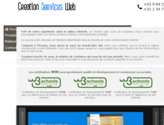creationservicesweb.fr screenshot