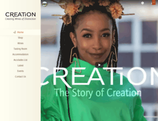 creationwines.com screenshot