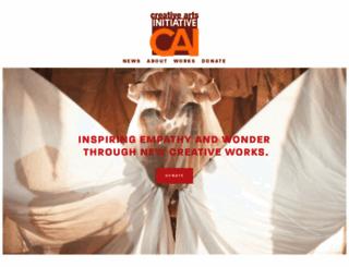 creativeartsinitiative.org screenshot