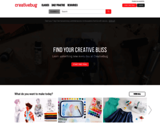 creativebug.com screenshot