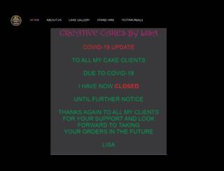 creativecakesbylisa.com.au screenshot