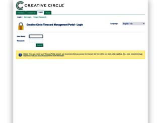 creativecircle.backofficeportal.com screenshot