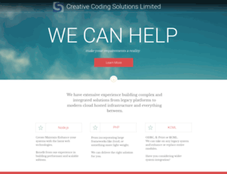 creativecodingsolutions.net screenshot