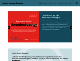 creativecommons.org.ar screenshot