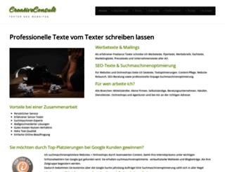 creativeconsult.de screenshot