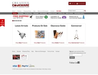 creativecookware.com screenshot