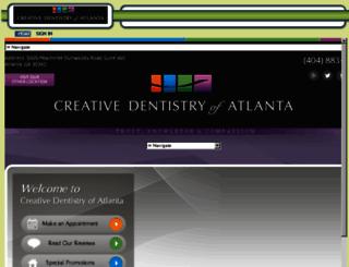 creativedentistryofatlanta.mydentalvisit.com screenshot