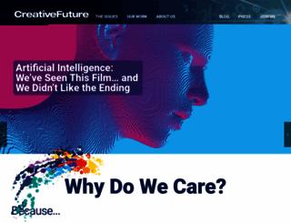 creativefuture.org screenshot