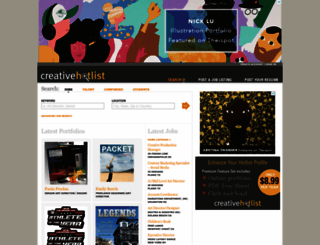 creativehotlist.com screenshot
