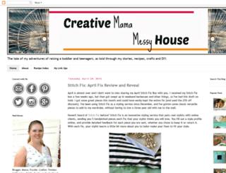 creativemamamessyhouse.blogspot.com screenshot