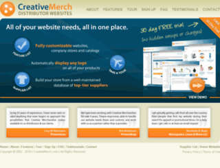 creativemerch.com screenshot
