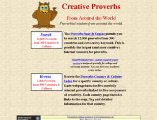 creativeproverbs.com screenshot