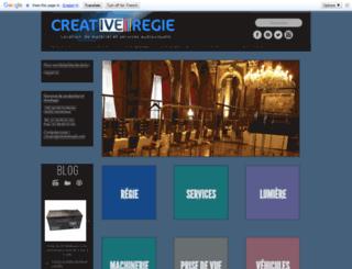 creativeregie.com screenshot