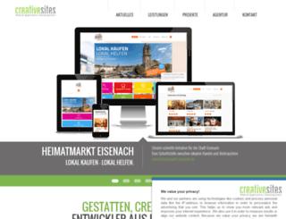 creativesites.de screenshot