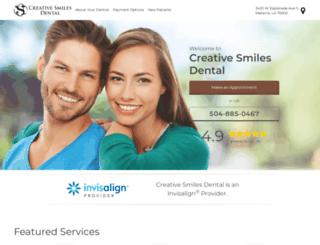creativesmilesdentalcare.com screenshot