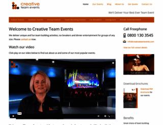 creativeteamevents.com screenshot