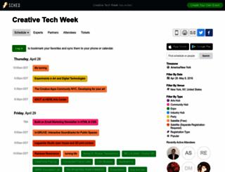 creativetechweek2016.sched.org screenshot