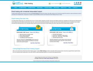creativewebhosting.net screenshot
