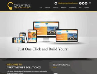 creativewebsolutionz.com screenshot