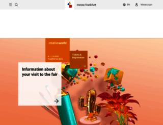 creativeworld.messefrankfurt.com screenshot