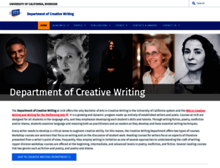creativewriting.ucr.edu screenshot