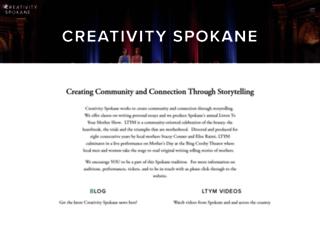 creativityspokane.com screenshot