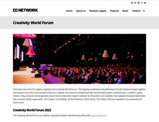creativityworldforum.be screenshot