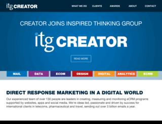 creatormail.co.uk screenshot