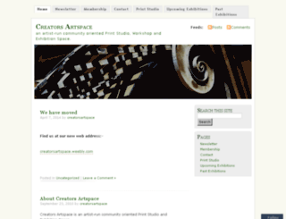 creatorsartspace.org screenshot