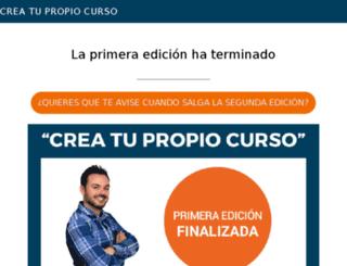 creatupropiocurso.com screenshot