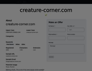 creature-corner.com screenshot