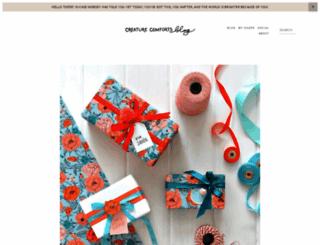 creaturecomfortsblog.com screenshot